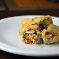 A delicious chicken pot pie! with or without gluten free option