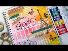 we are stories in the end frugal crafter lindsay 6/14 stamps, bombay inks, spray mist. youtube