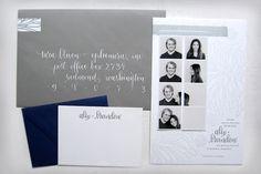Convite de casamento inspirado na Photomaton.