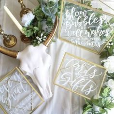 60 Elegant Calligraphy Wedding Ideas | HappyWedd.com #PinoftheDay #elegant…