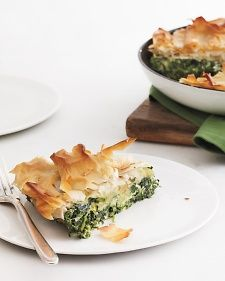 Skillet spinach pie. Opa! This spanakopita-inspired dish is a great vegetarian main or a hearty side for meat or chicken.