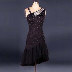 Latin Dance Dress Women Girls Diamond Roupa Infantil Feminina Black  Ballroom Cha Cha Rumba Samba Latin Dresses For Dancing - On Trends Avenue 260d3f38c