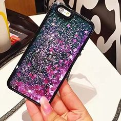 iPhone 6 Plus Case,Blingy's New Cool Flowing Liquid Glitter Style Plastic Hard Case for Apple iPhone 6 Plus (Purple Hearts with Green Glitter) Buy Iphone 6, Apple Iphone 6, Iphone Cases, 6s Plus Case, 6 Case, Cell Phone Holder, Portable Charger, Green Glitter, Apple Watch
