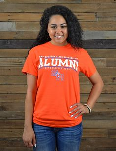 Show your Bearkat Pride in this new Sam Houston State University Alumni t-shirt! What better way to show how proud you are to have graduated from such a great school! GO SHSU Bearkats!