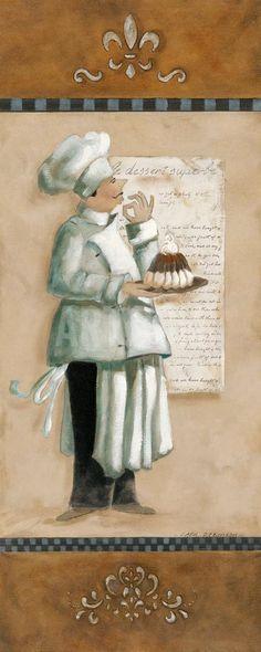 chef.quenalbertini: Chef Magnifique I Art Print by Carol Robinson at Art.com