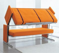 Sofa Bunk Bed  - goes from a sofa to a bunk bed with ladder. Could use this in the den