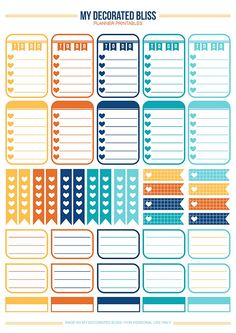 Shop: mydecoratedbliss.etsy.com 01 Sampler Set | Printable Planner Stickers | The Happy Planner by MAMBI | PDF - Instant Download