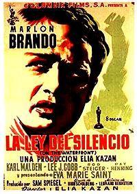 """La ley del silencio"", ""On the Waterfront"" Director: Elia Kazan. Eva Marie Saint, Iconic Movie Posters, Iconic Movies, Film Posters, Imdb Movies, Top Movies, Marlon Brando, Biker Movies, Karl Malden"
