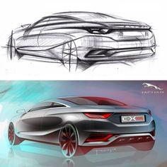 Jaguar Concept from sketch to rendering