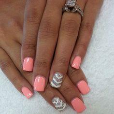 pink and grey nail designs - Google Search