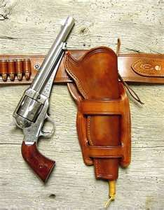 This would be an old gun like George would have used.  Lennie took the gun from Carlson and then George took it from Lennie and shot him.