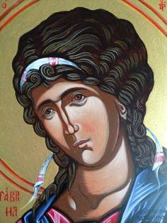 "© Babis & Flora  ""Αρχάγγελος Γαβριήλ "" ""Archangel Gabriel"" 16 x 21 cm"