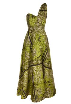 Image of Green Birds Blossom Maxi Dress I just want to go buy a bunch of African material and go crazy!!!