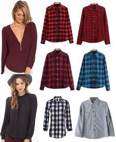 ·Colores, Tallas y Precio según el modelo· #Shalala #Ropa #Accesorios #Camisa #Blusa #Casual #Leñadora #Rayas #Cuadros #Oficina #Elegante