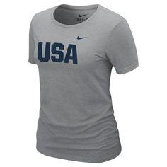 Team USA Nike Women s Performance T-Shirt – Dark Gray Usa Shirt a8df2a4b5