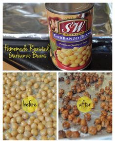 roasted garbanzo beans snack before after.400