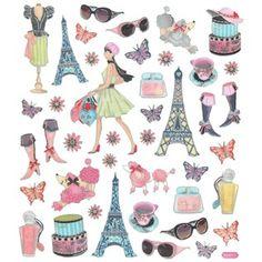 Paris Foil Stickers- room ideas for girls