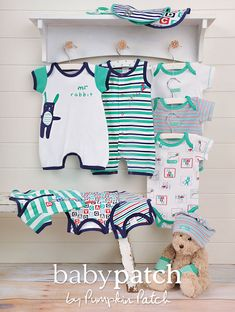 baby Patch summer collection with  adorable designs for newborn & baby boy by Pumpkin Patch.