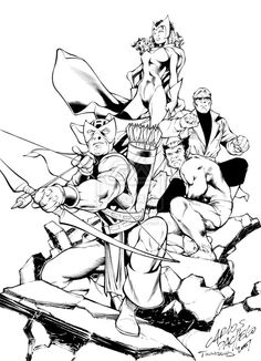 Heres an Avengers promo I did with Carlos Pacheco. This was me pretending Im a pure brush inker. Comic Book Artists, Comic Books, Avengers, Marvel, Deviantart, Comics, Anime, The Avengers, Cartoon Movies