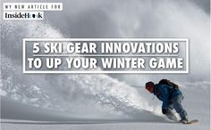 The Best Ski Gear 5 Innovative Products For 2016 Best Skis, Ski Gear, Innovative Products, Winter Games, Experiential, News Articles, Gears, Skiing, Innovation