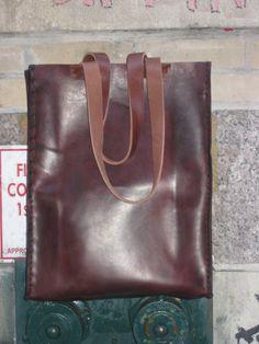 aixa sobin large leather tote bag