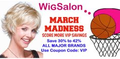 Spring Saving, March Wig Madness Sale - Save 15-40%