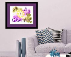 Peace & Love with Gratitude Inspirational Words Fine Art