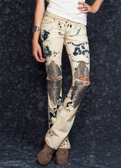 Printed Jeans; fashion