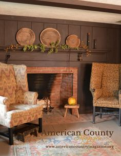 Early American Colonial Interiors americana decorating style