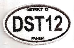 """The District 12 Euro-style patch, inspired by """"The Hunger Games."""" $8.00"""