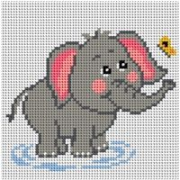 Elephant Cross Stitch, Cross Stitch Art, Cross Stitch Borders, Cross Stitch Animals, Cross Stitching, Cross Stitch Embroidery, Baby Cross Stitch Patterns, Cross Stitch Designs, Modele Pixel Art