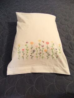 Peaceable Liberal's embroidered pillowcases
