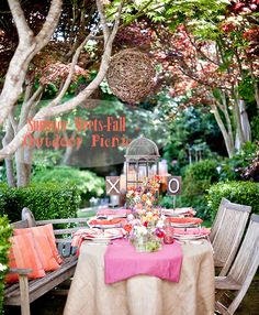 Either an intimate valentine's dinner or a spring party outdoors...if only I had a backyard like this...