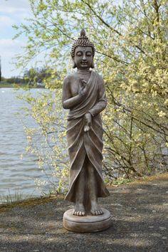 STANDING BUDDHA GARDEN STATUE Sculpture Ornament Lawn Patio Outdoor Large