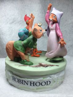 """The Disney Collection, Musical Memories """"Robin Hood"""" Musical Figurine Music Box Designed By The Walt Disney Artists on Etsy, $49.95"""