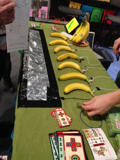 Ever wanted to play the banana? How about a ficus tree? Or turn your stairs into a piano? Makey Makey lets you put your creativity powers to the test. Google it and watch the clip of people being super creative.