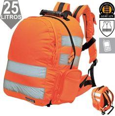 Mochila con zafado rápido Naranja EN471 y GO/RT3279