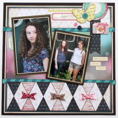 Scrapbook Layout Crate Paper Maggie Holmes Collection