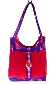 Back To School, Red Hat Society, Teacher Tote, Student Book Bag, Red, Purple…