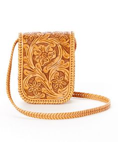 Look at this #zulilyfind! Natural Mia Leather Crossbody Bag by Adam Alexis #zulilyfinds
