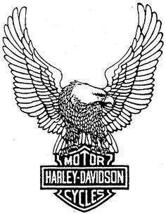 Harley-Davidson Symbol Coloring Page | Dibujo para imprimir : Vehículos - Motocicleta - Harley-Davidson ...