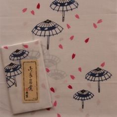 Japanese towel – Cherry blossoms and ambrellas