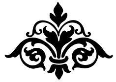 Damask Flourish - - The Graphics Fairy Printable Stencil Patterns, Printable Art, Printable Vintage, Free Printables, Cliparts Free, Home Bild, Fleur Design, Damask Stencil, Stencil Diy