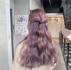 Pretty Hair Color, Hair Color And Cut, Kawaii Hairstyles, Pretty Hairstyles, Purple Hair, Ombre Hair, Korean Hair Color, Dying My Hair, Hair Dye Colors
