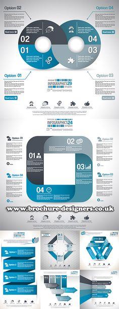 business vector infographics suitable for annual report design