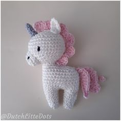 DutchLittleDots - Irene Haakt: Mini eenhoorn met gratis patroon / mini unicorn with free pattern