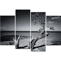 Modern Canvas Art,Classical Black and White Tree Landscape Canvas Prints,Framed Pictures Wall Decor,Ready Hanging On,Multi-Panels