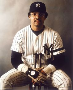 """Reggie Jackson poses during a photo shoot on July 1980 at Yankee Stadium in the Bronx, N. The Hall of Fame rightfielder—a All-Star, 1973 AL MVP, 1973 and World Series MVP—nicknamed """"Mr. October,"""" turned 70 years old on May Famous Baseball Players, Best Baseball Player, Baseball Games, Reggie Jackson, Brandon Jackson, Damn Yankees, New York Yankees Baseball, Yankees Baby, Mlb"""