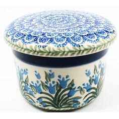 """Amazon.com: Polish Pottery Butter Keeper 3"""" H x 4 1/2"""" W: Home & Kitchen"""