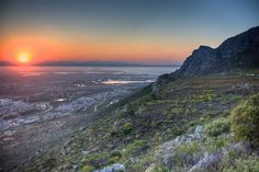The sun rises over Cape Towns southern suburbs Multiple Exposure, Dynamic Range, Cape Town, Hdr, Sunrise, Shots, Southern, Mountains, Lighting